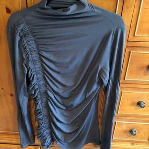 Three Dots - Side Ruched Long Sleeve Top - XL